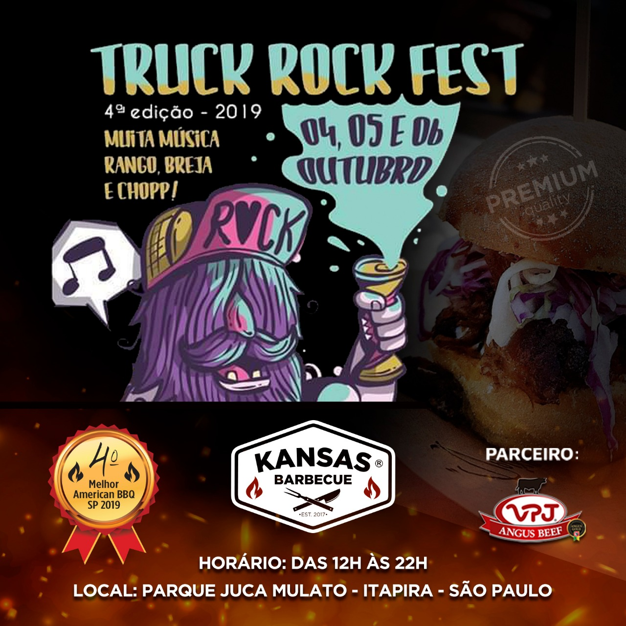 Truck Rock Fest em Itapira tem carnes VPJ